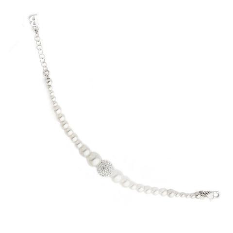 bracciale boccadamo perle maiorca argento e swarovski