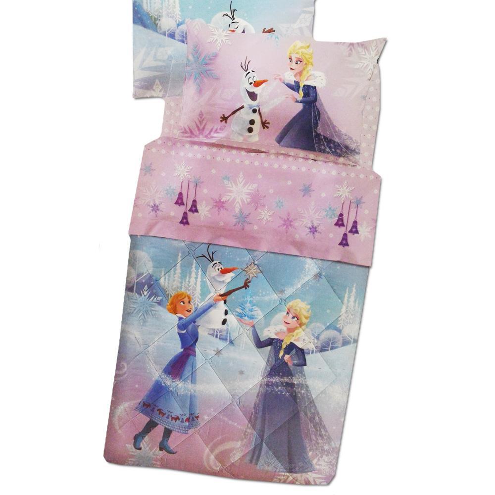 Trapunta invernale 1 piazza frozen fiocco di neve caleffi per letto singolo disney lilla - Trapunta letto singolo bambino ...
