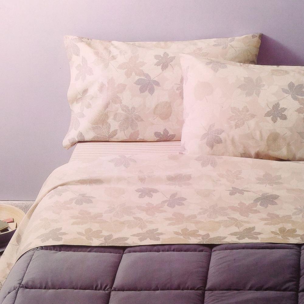 Set lenzuola matrimoniale 2 piazze flanella ZUCCHI Basics OLIVER beige