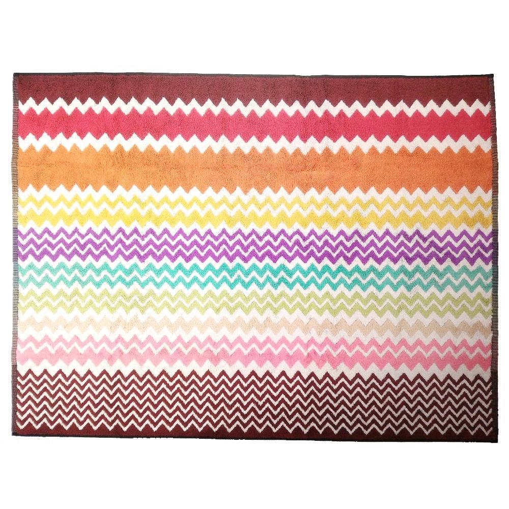 Missoni Home RUFUS 159 tappeto bagno 70x90 cm chevron zig-zag rosso ...