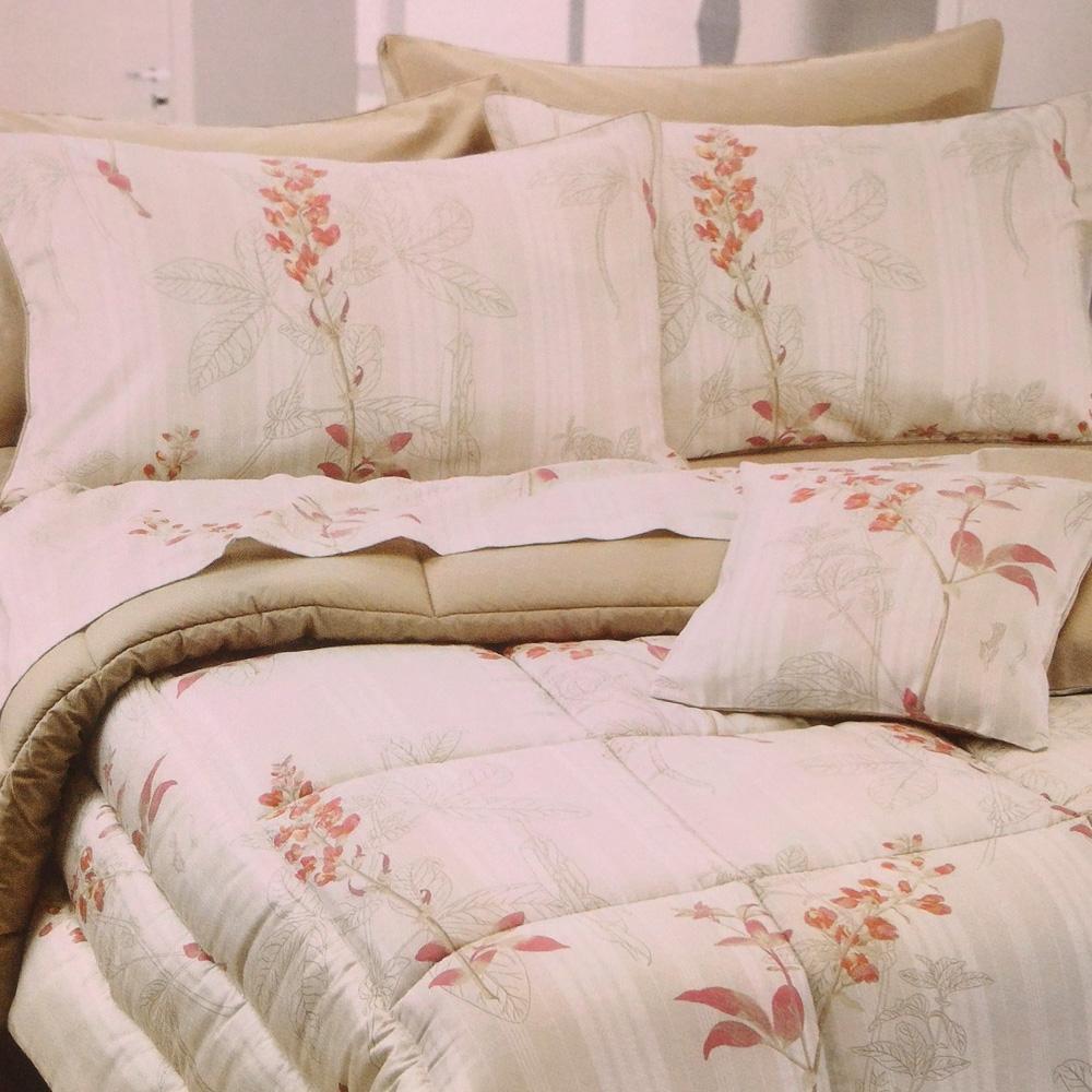 Set lenzuola per letto matrimoniale Platinum Satin raso floreale lino
