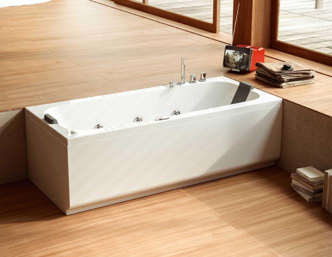 Vasca da bagno senza idro cm 180 x 80 Pop Glass