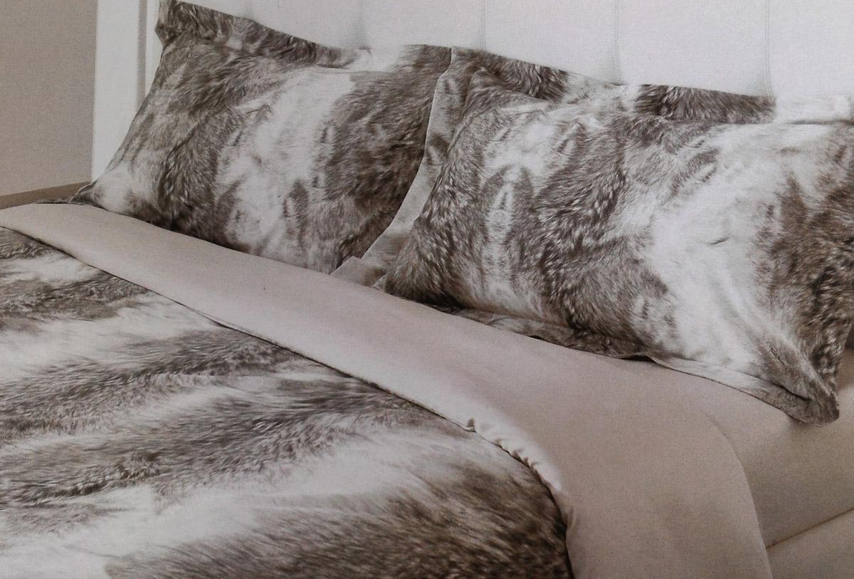 reputable site 096fd 3c399 Set Lenzuola Lupo grigio Roberto Cavalli per letto matrimoniale raso di  cotone