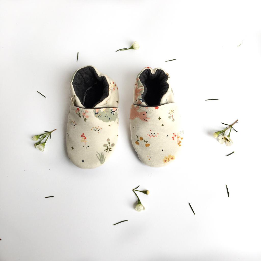 Scarpine antiscivolo bambi in cotone biologico