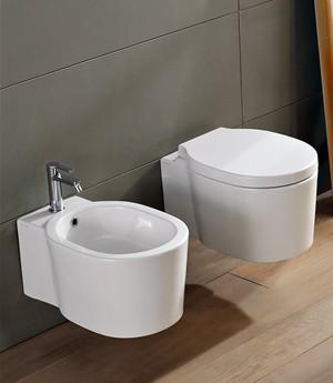 Vaso e bidet sospeso per il bagno cm 53,5 x 36 Bucket Scarabeo