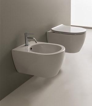 Vaso e bidet sospeso per il bagno cm 50,5 x 36 Moon Scarabeo