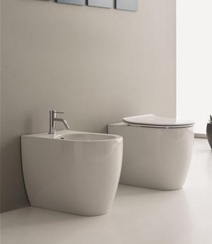 Vaso e bidet a terra per il bagno cm 54,5 x 36 Moon Scarabeo