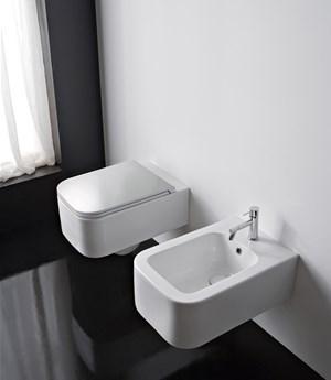 Vaso e bidet sospeso per il bagno cm 55 x 35 Next Scarabeo