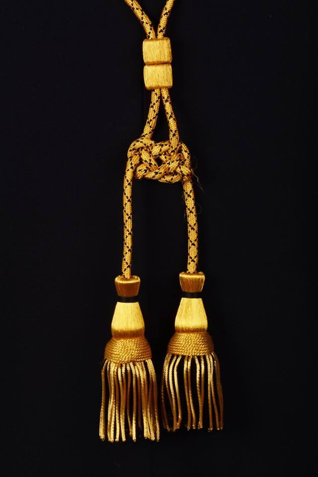 Coppia cordoniere oro e nero