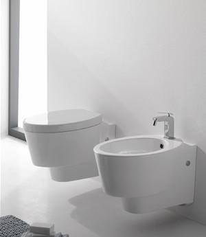 Vaso e bidet sospeso per il bagno cm 57 x 35 Wish Scarabeo