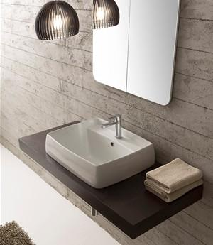 Lavabo per il bagno a incasso cm 60 x 46,5 Arco Scarabeo