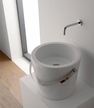 Lavabo per il bagno da appoggio cm 30 Bucket Scarabeo