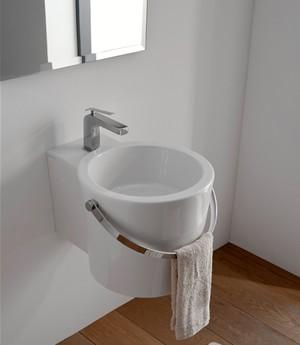 Lavabo per il bagno da appoggio/sospeso cm 30 x 40 Bucket Scarabeo