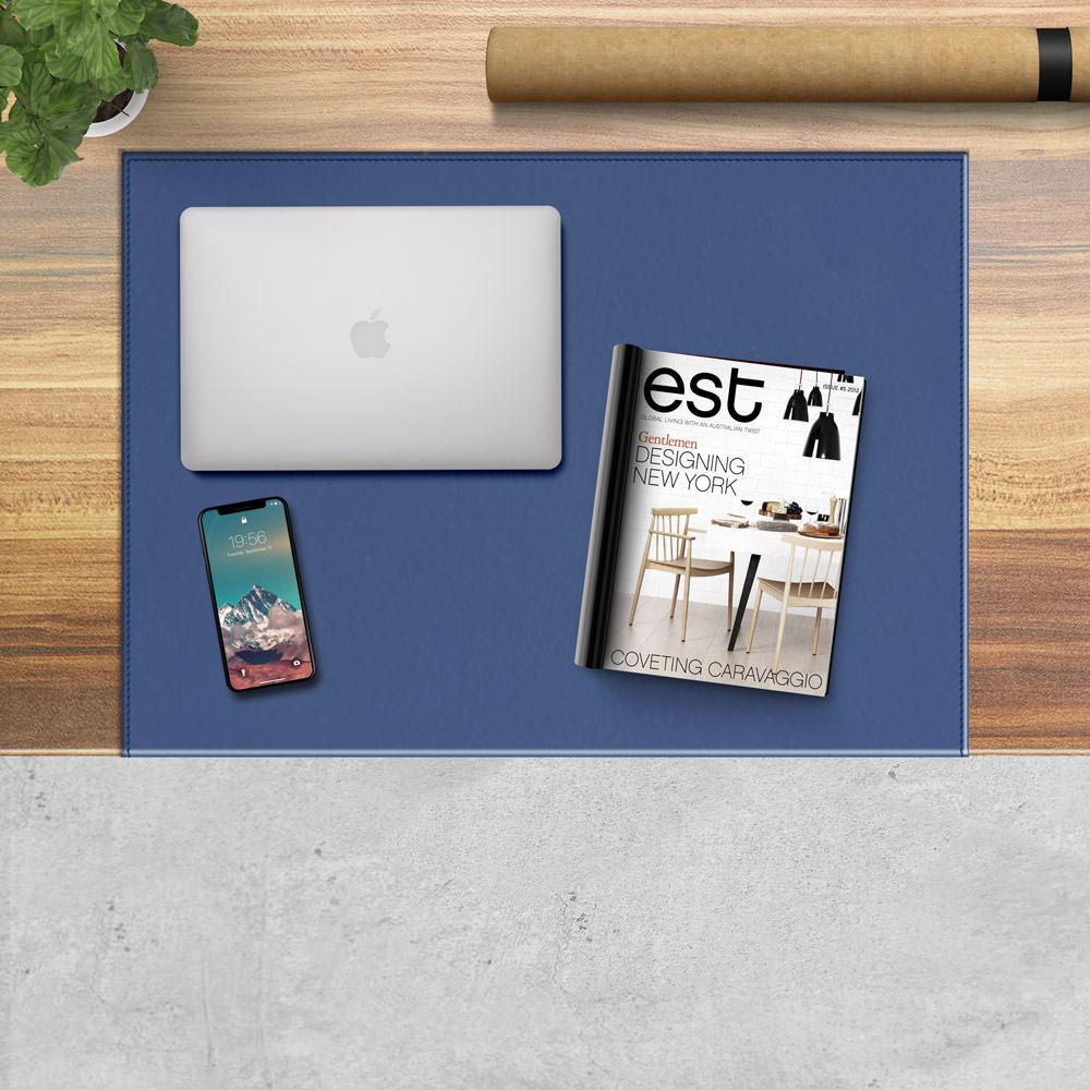 Desk Pad Calliope Electric Blue