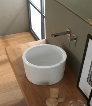 Lavabo per il bagno da appoggio cm 42 Bucket Scarabeo
