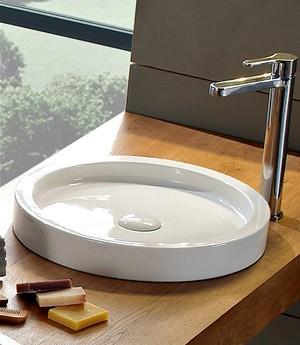 Lavabo per il bagno da appoggio cm 35 Bucket Scarabeo