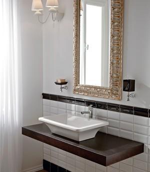 Lavabo per il bagno da appoggio cm 60 x 42 Butterfly Scarabeo