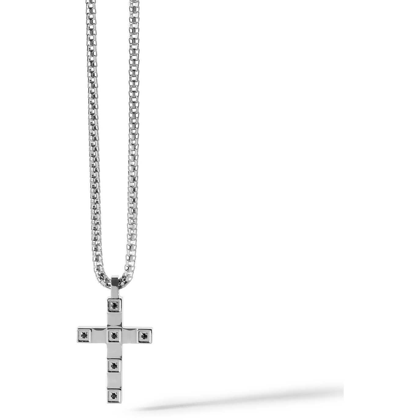COMETE UOMO-Collana in acciaio con croce