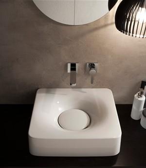 Lavabo per il bagno da appoggio/sospeso cm 50 x 43,5 Fuji Scarabeo