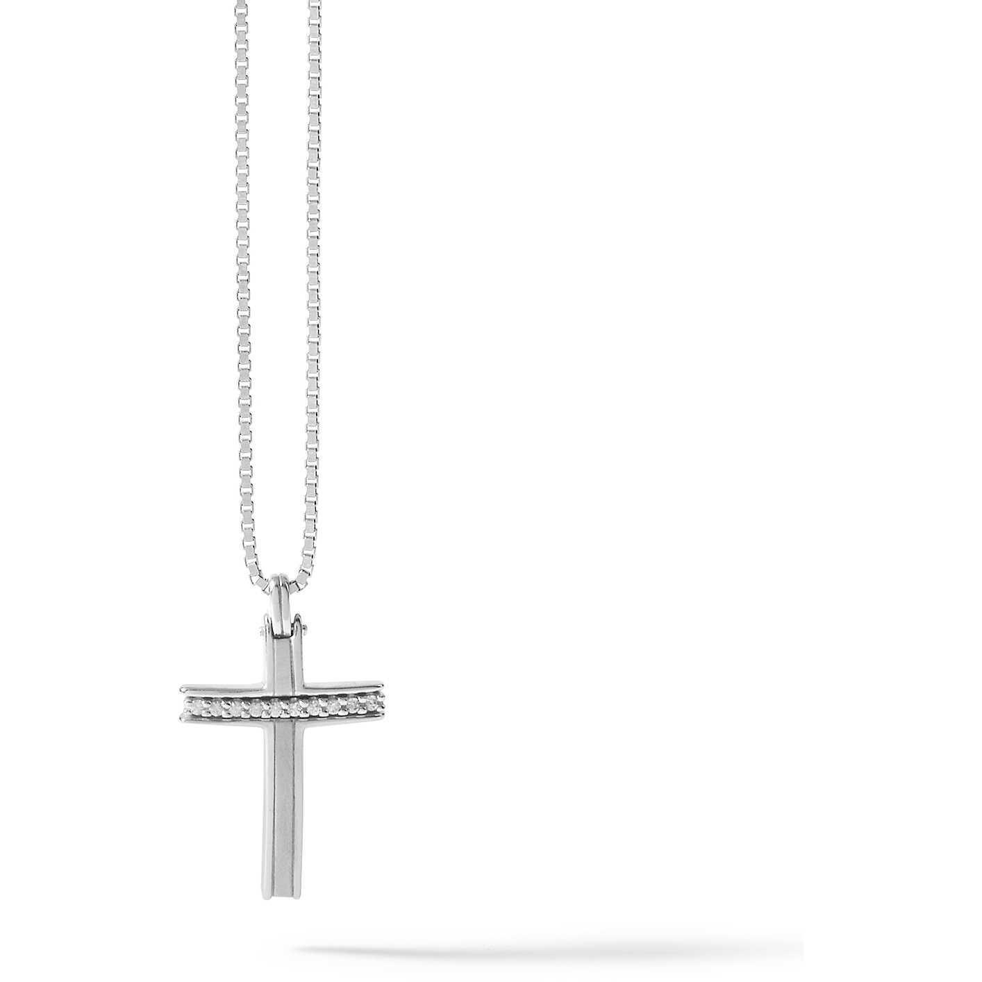 COMETE UOMO-Collana in argento con croce