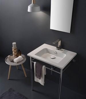Lavabo per il bagno sospeso cm 61,5 x 47 Etra Scarabeo