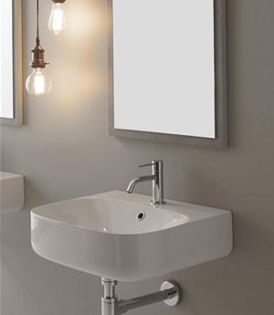 Lavabo per il bagno sospeso cm 50 x 45 Moon Scarabeo