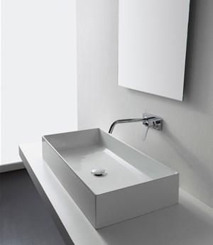 Lavabo per il bagno da appoggio cm 80 x 40 Teorema 2.0 Scarabeo
