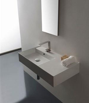 Lavabo per il bagno sospeso cm 81 x 44 Teorema 2.0 Scarabeo