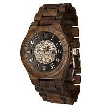 Orologio laimer legno automatico scheletrato a vista