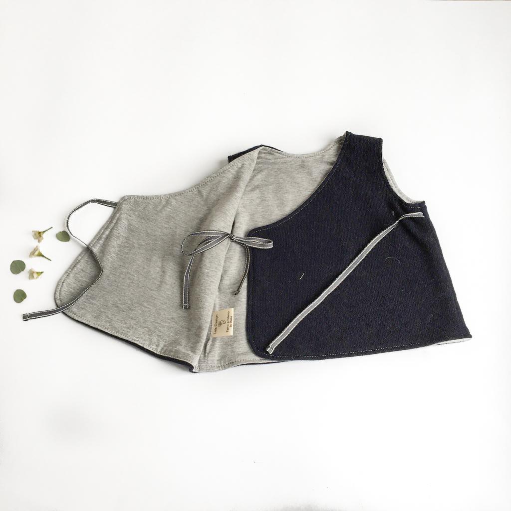 Gilet scalda cuore in cotone biologico e lana