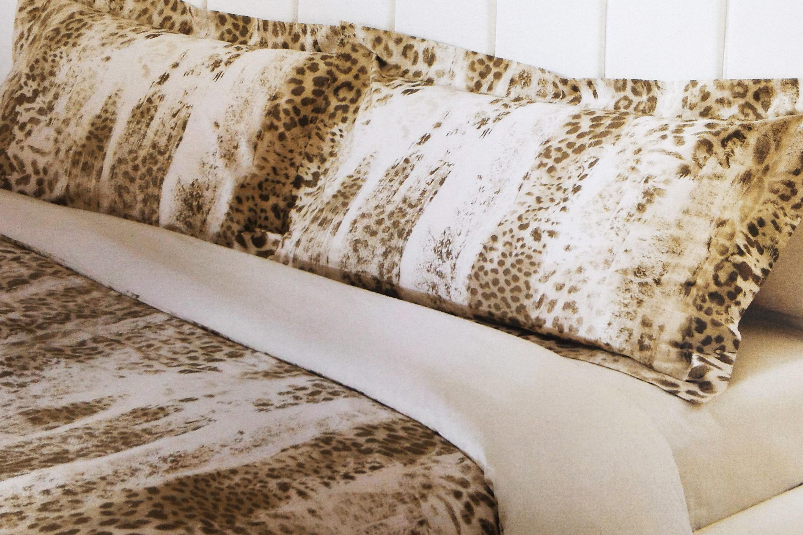 Cotton Box Copripiumino.Roberto Cavalli Animalier Duvet Set Satin Cotton Jaguar Double Bed
