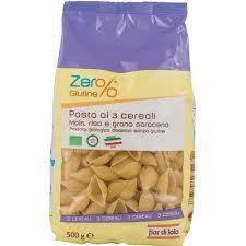 Pasta ai 3 Cereali Mais,Riso, Grano Saraceno Conchiglie