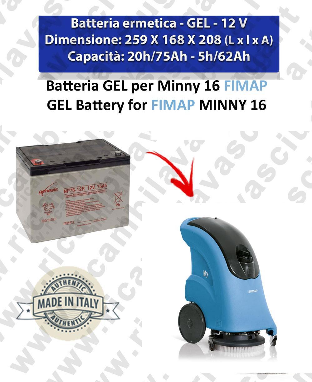 BATTERY GEL pour autolaveuses FIMAP MINNY 16
