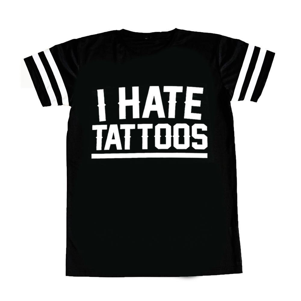T-shirt traforata Woman I HATE TATTOOS