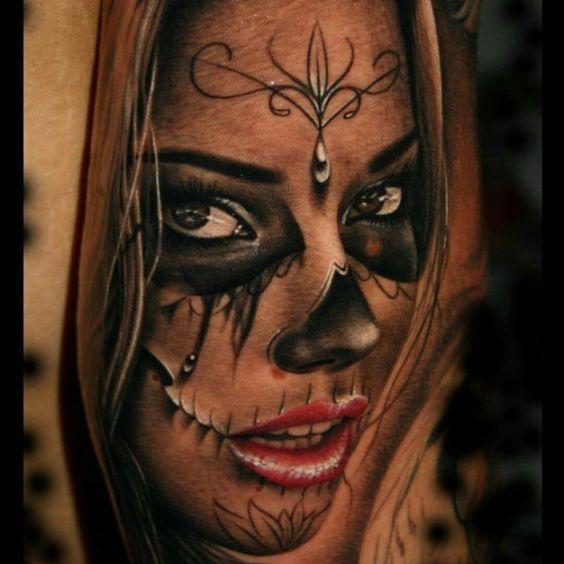 25 imperdibili tatuaggi santa muerte