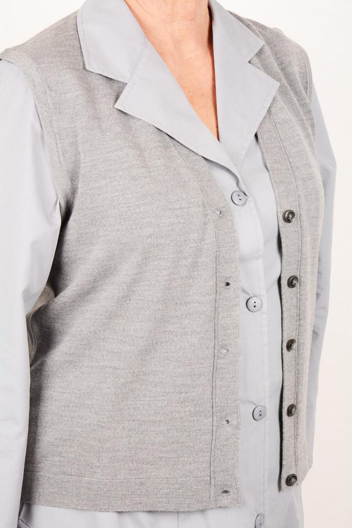 Gilet SM art. 8241 grigio chiaro
