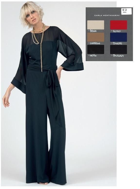 Tuta pantalone palazzo maniche kimono + fusciacca