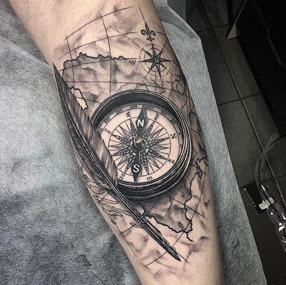 Compass tattoo le nostre proposte for Tattoo bussola significato