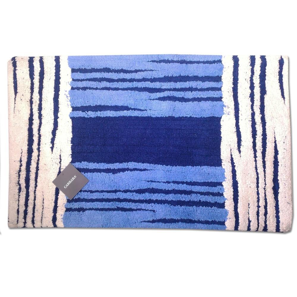Tappeto da bagno in spugna 70x110 cm carrara manchester blu - Tappeto bagno blu ...