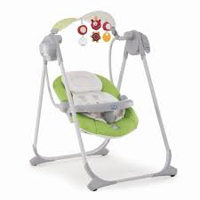 Chicco 7911051 Polly Swing Up Green Altalena elettrica con varie melodie