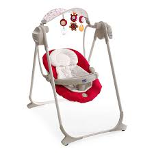 Chicco 7911071 Polly Swing Up Paprika Altalena elettrica con varie melodie