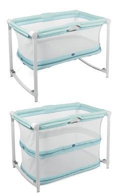 Lettino Box.Chicco 7955411 Lettino E Box 2 In 1 Trasformabile Col Aquarelle