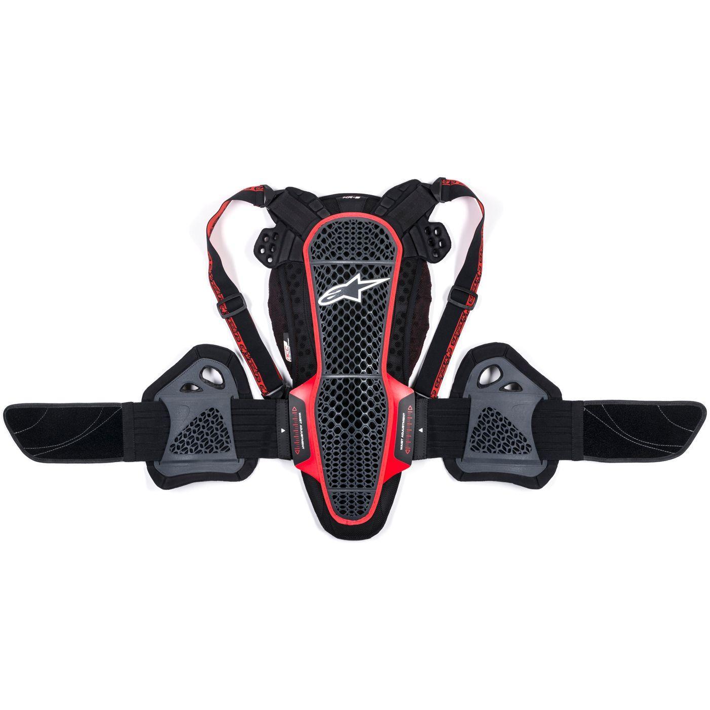 PARASCHIENA MOTO ALPINESTARS NUCLEON KR-3 SMOKE BLACK RED