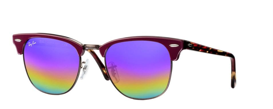 Rayban Rb 3016 Clubmaster Mineral Flash lenses