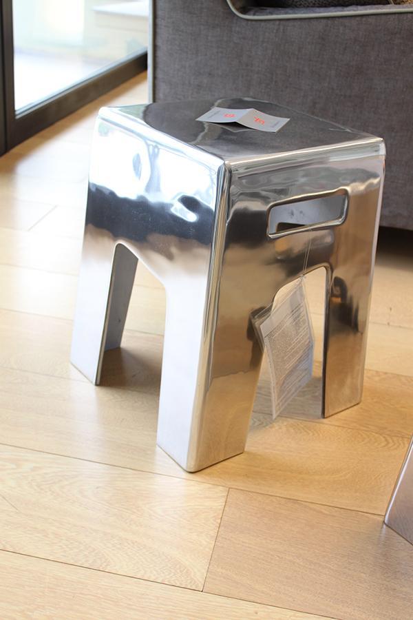 Gervasoni aluminum pouff