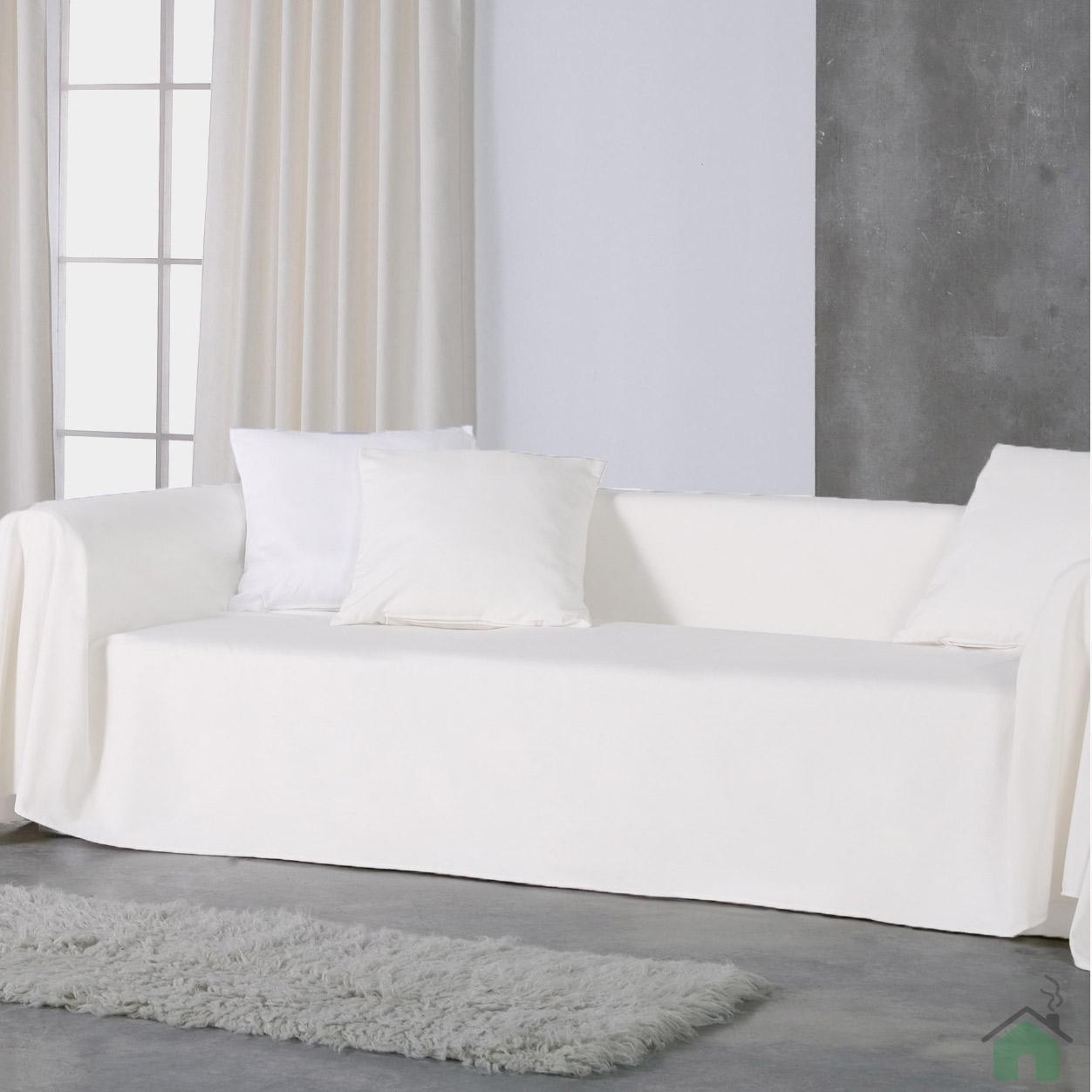 Copridivano copritutto telo Panama 350x280 cm   bianco | eBay