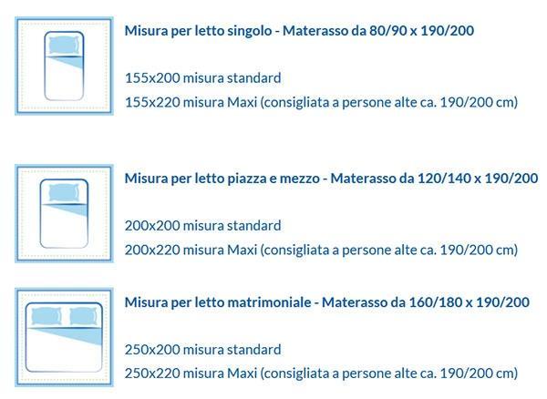 Misure Standard Piumino Letto Matrimoniale.Daunex Piumino D Oca Ungherese Medium 100 Piumino Ungherese