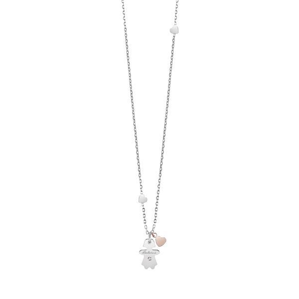 Collana oro 9k Bambina con diamante