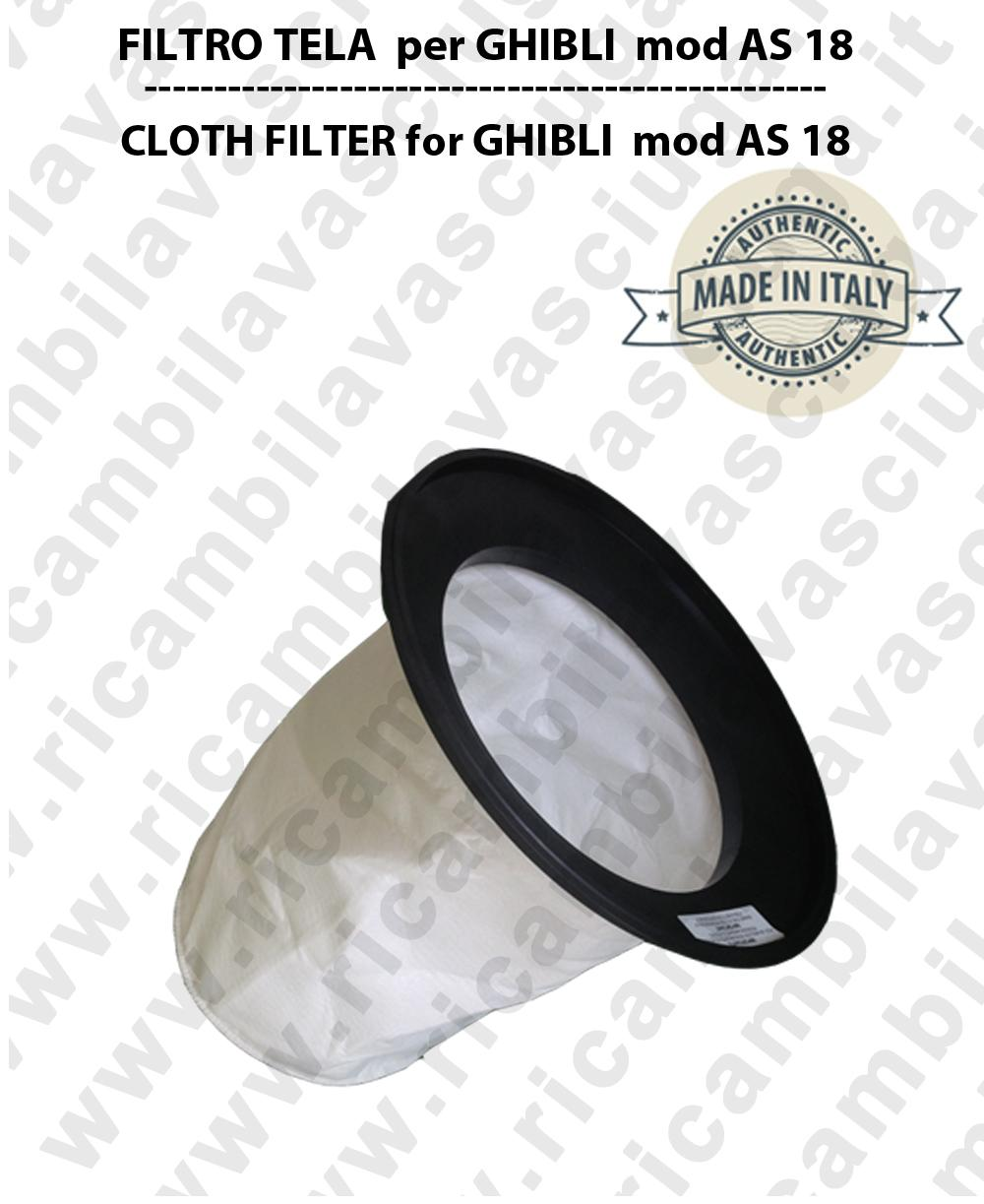 AS 18 Canvas Filter for vacuum cleaner GHIBLI