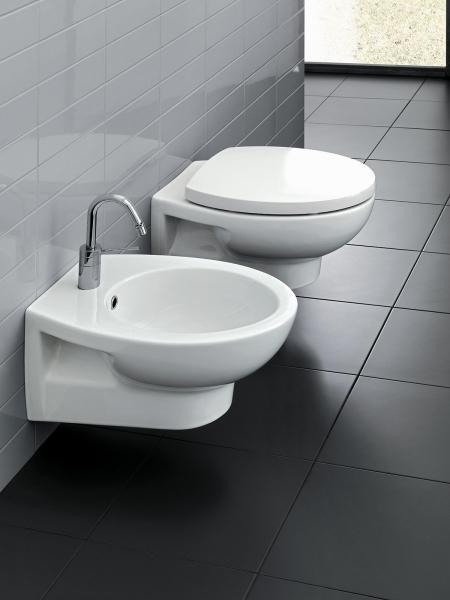 Vaso e bidet sospeso per il bagno cm 53 x 37 Erika Pro Hatria